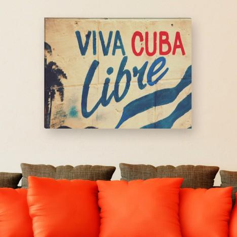 Viva cuba libre - Leinwandbild