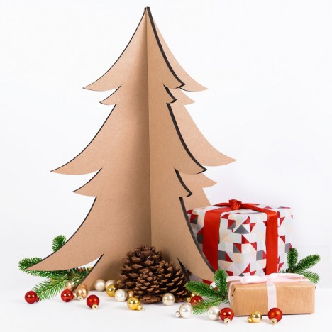 Weihnachtsbaum aus Holz