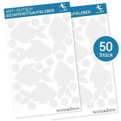 Anti-Rutsch-Sticker Fische, 50 Stück