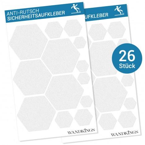 Anti-Rutsch-Sticker Waben, 26 Stück