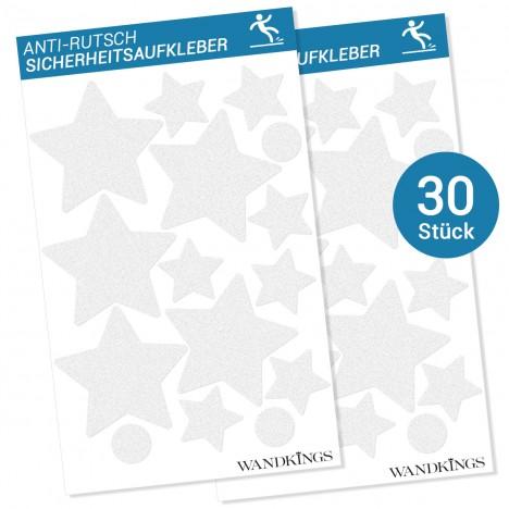 Anti-Rutsch-Sticker Sterne, 30 Stück
