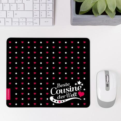 Mousepad Beste Cousine - Motiv 1