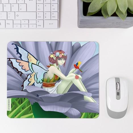 Mousepad Fee in Blume
