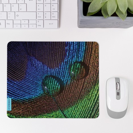 Mousepad Pfauenfedern