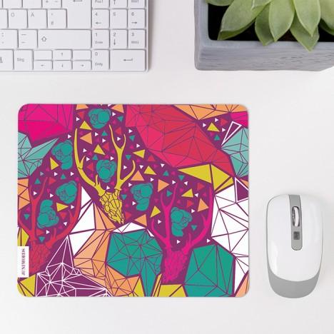 Mousepad Geometrisches Muster Hirschtotenkopf
