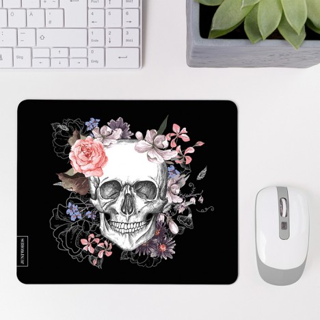 Mousepad Flower Skull