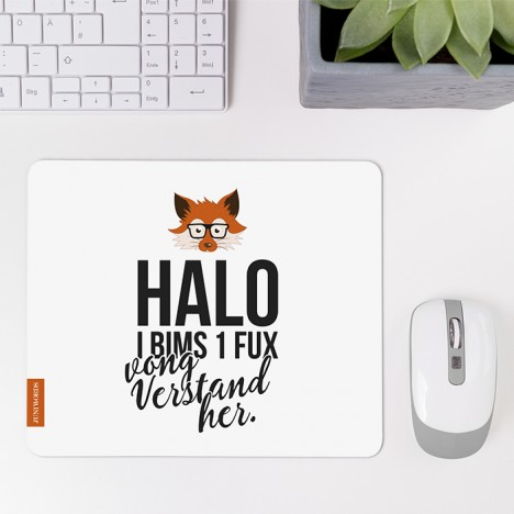 Mousepad Halo I Bims 1 Fux vong Verstand her.