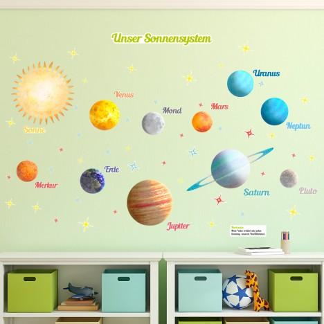 Wandsticker Set XL - Weltraum und Planeten