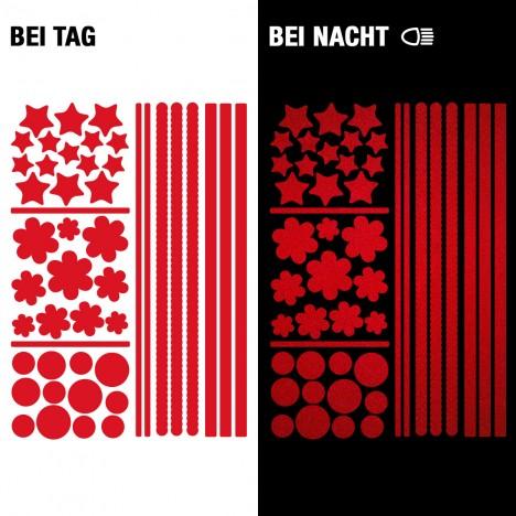 Reflektierende Fahrradaufkleber - SafeRAD rot