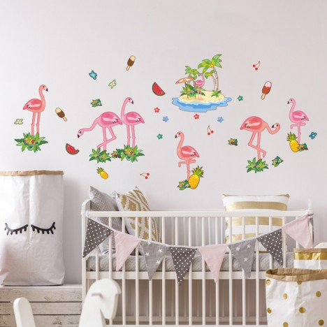 Wandsticker Set XL - Flamingo