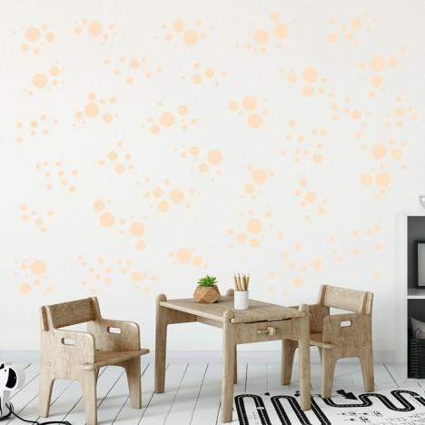 Wandsticker Set Mega - Pastell Punkte Orange
