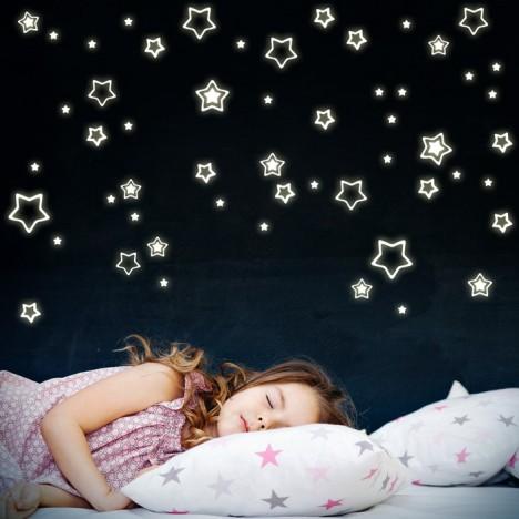 Leuchtaufkleber Sterne Abgerundet
