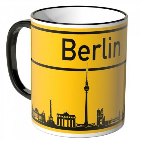 JUNIWORDS Tasse Ortsschild Skyline Berlin