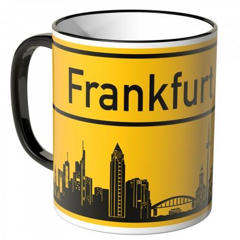 JUNIWORDS Tasse Ortsschild Skyline Frankfurt