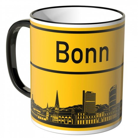 JUNIWORDS Tasse Ortsschild Skyline Bonn