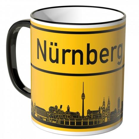JUNIWORDS Tasse Ortsschild Skyline Nürnberg