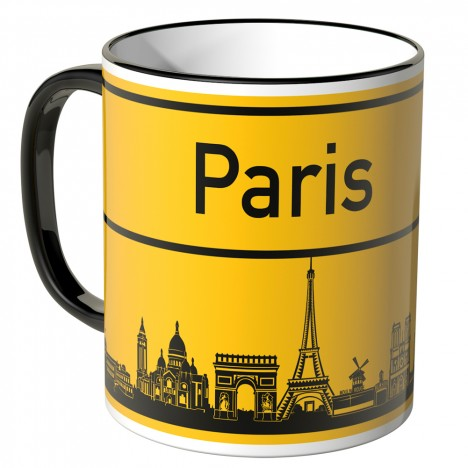 JUNIWORDS Tasse Ortsschild Skyline Paris