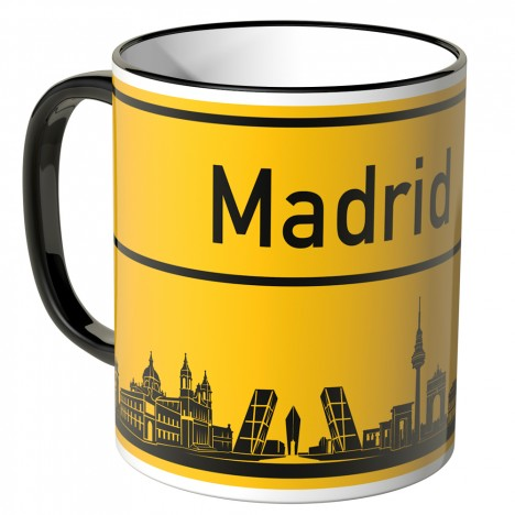 JUNIWORDS Tasse Ortsschild Skyline Madrid