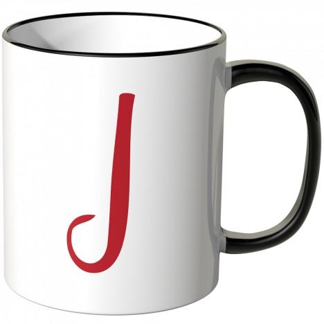 JUNIWORDS Tasse Buchstabe J
