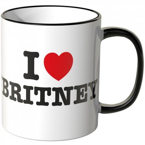 JUNIWORDS Tasse I LOVE BRITNEY