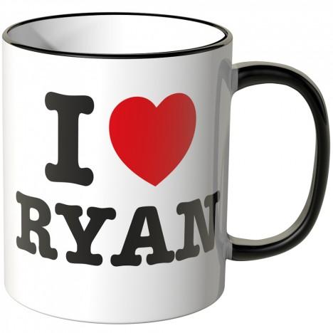 JUNIWORDS Tasse I LOVE RYAN