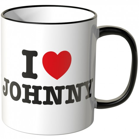 JUNIWORDS Tasse I LOVE JOHNNY