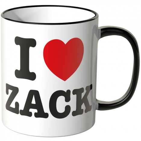 JUNIWORDS Tasse I LOVE ZACK