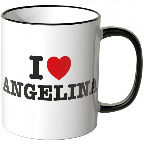 JUNIWORDS Tasse I LOVE ANGELINA