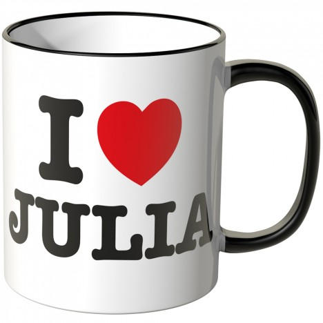JUNIWORDS Tasse I LOVE JULIA