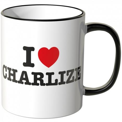 JUNIWORDS Tasse I LOVE CHARLIZE