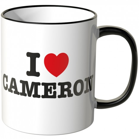 JUNIWORDS Tasse I LOVE CAMERON
