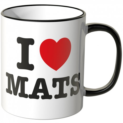 JUNIWORDS Tasse I LOVE MATS