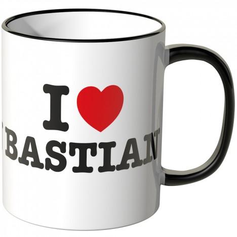 JUNIWORDS Tasse I LOVE BASTIAN
