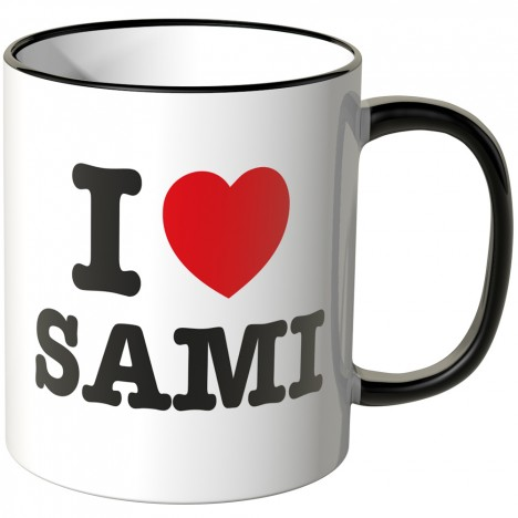 JUNIWORDS Tasse I LOVE SAMI