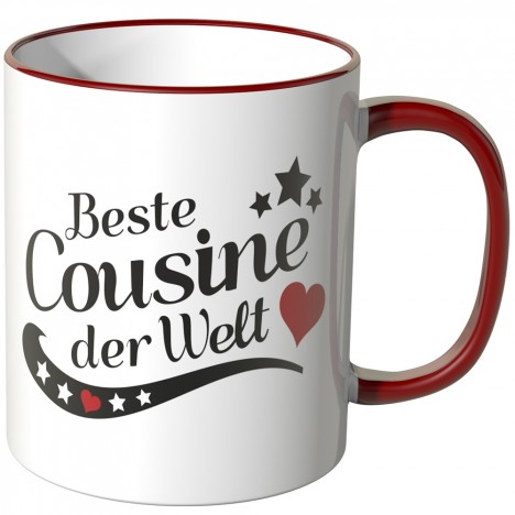 JUNIWORDS Tasse Beste Cousine der Welt