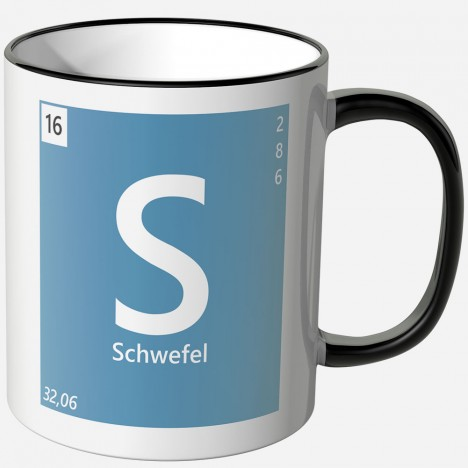 Schwefel Element Tasse