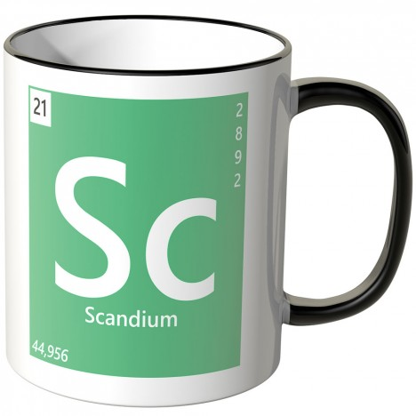 "JUNIWORDS Tasse Element Scandium ""Sc"""