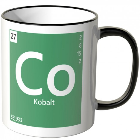 "JUNIWORDS Tasse Element Kobalt ""Co"""
