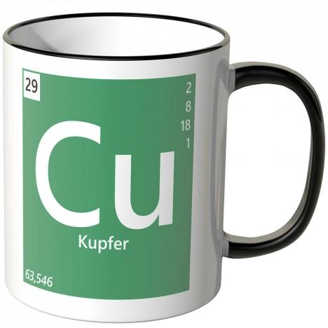 "JUNIWORDS Tasse Element Kupfer ""Cu"""