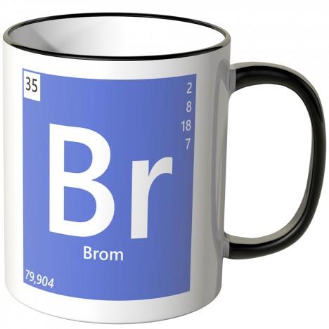 """JUNIWORDS Tasse Element Brom """"Br"""""""