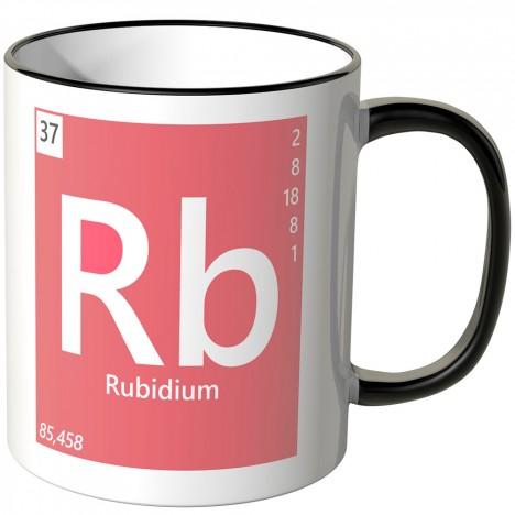 "JUNIWORDS Tasse Element Rubidium ""Rb"""