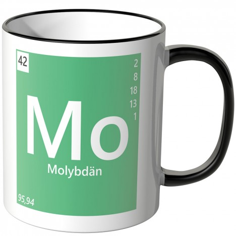 Molybdän Element Tasse