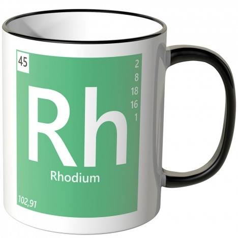 "JUNIWORDS Tasse Element Rhodium ""Rh"""