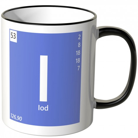 "JUNIWORDS Tasse Element Iod ""I"""