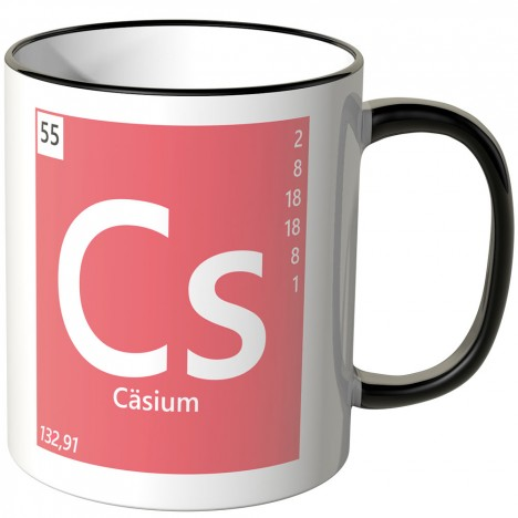 "JUNIWORDS Tasse Element Cäsium ""Cs"""
