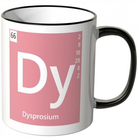 "JUNIWORDS Tasse Element Dysprosium ""Dy"""