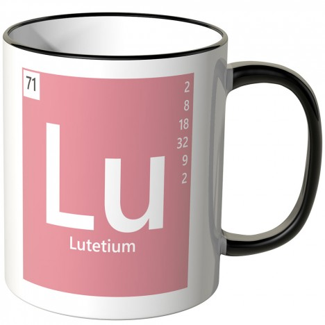 "JUNIWORDS Tasse Element Lutetium ""Lu"""