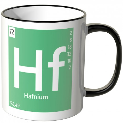 "JUNIWORDS Tasse Element Hafnium ""Hf"""