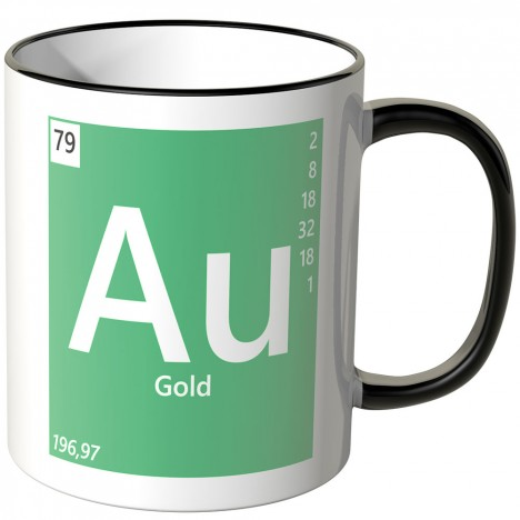 "JUNIWORDS Tasse Element Gold ""Au"""