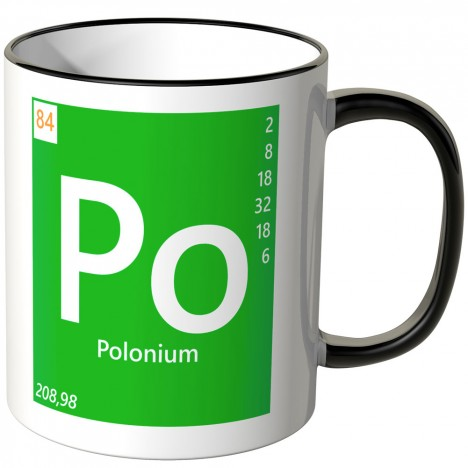 """JUNIWORDS Tasse Element Polonium """"Po"""""""